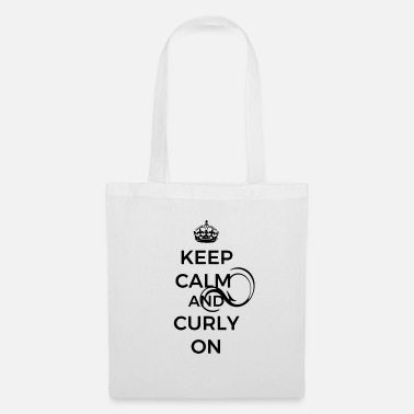 KEEP CALM AND CURLY ON - Stoffbeutel