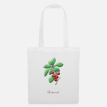 Drawing branch of cherries - Tote Bag
