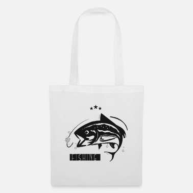 Sport Fishermen Fish in the water // for passionate fishermen - Tote Bag