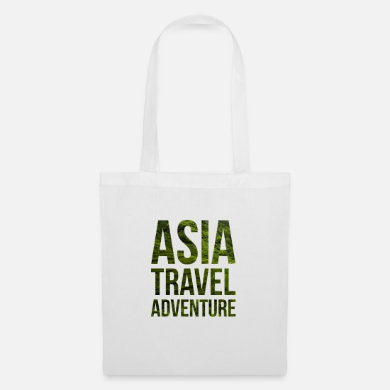 Travel Bags & Backpacks - ASIA TRAVEL ADVENTURE - Tote Bag white