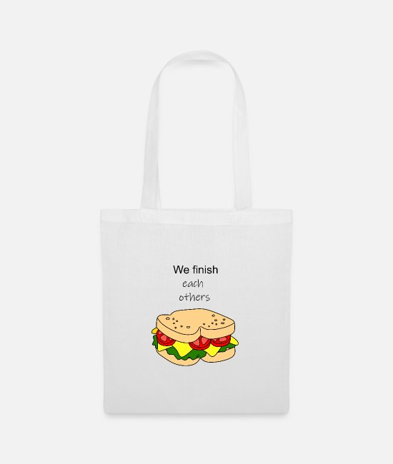 Sandwich Bags & Backpacks - Couple Shirt Sandwich 1 - Tote Bag white