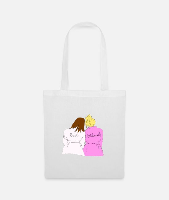 Maid Of Honor Bags & Backpacks - Bride + Bridesmaid - Tote Bag white