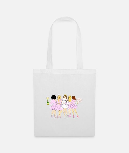 Heart Bags & Backpacks - Junggesellinenabschied - Tote Bag white