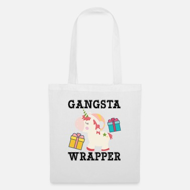 Funny Unicorn Gangsta Wrapper Funny Unicorn - Sac en tissu
