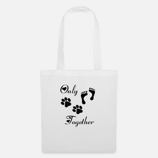 Pet Bags & Backpacks - Only we 2! Cats dog love gift idea - Tote Bag white