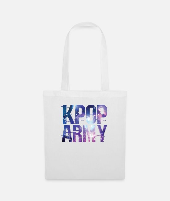 Animal Bags & Backpacks - Kpop Army T-Shirt - Tote Bag white
