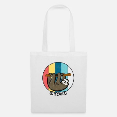 Lazy Sloth Vintage Lazy Chilling Sleeping Gift - Tote Bag