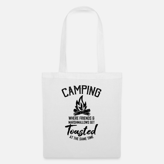 To Camp Bags & Backpacks - camping - Tote Bag white