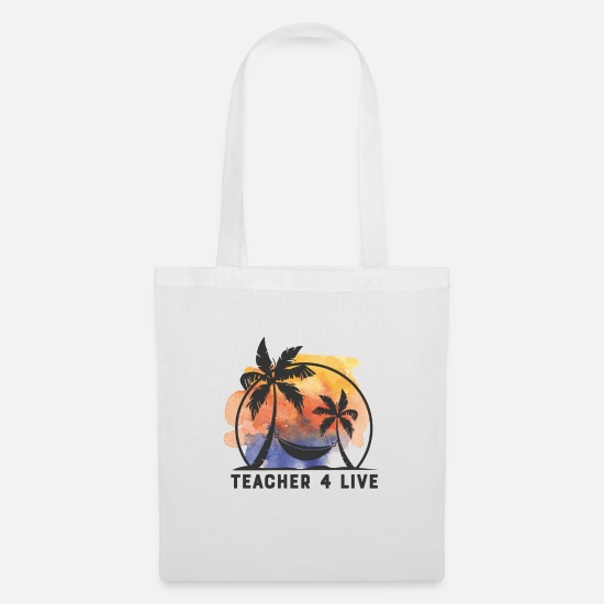 Teacher Bags & Backpacks - TEACHER 4 Live - Tote Bag white