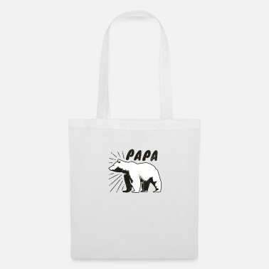 Cub Mens Papa Bear Gift, Father's Day Gift For Him - Tote Bag