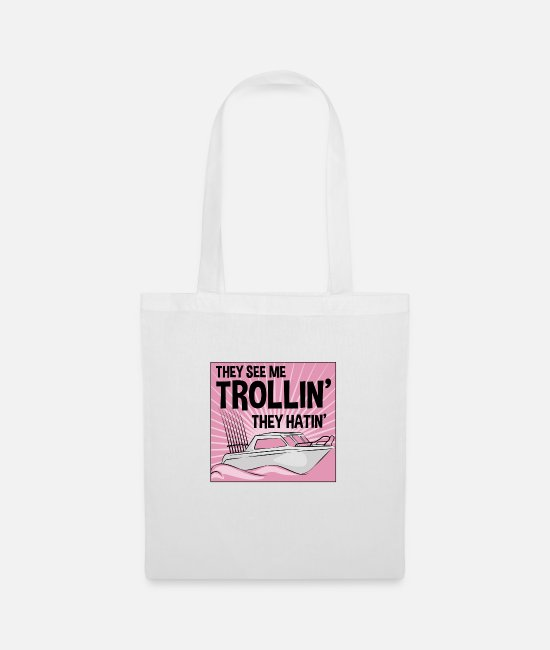Bait Bags & Backpacks - Trolling fishing trolling salmon sea trout - Tote Bag white