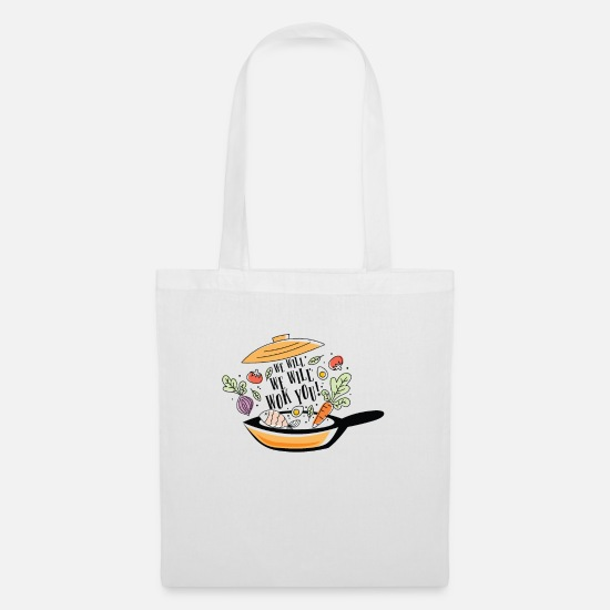 Soup Bags & Backpacks - We want Wok you - Tote Bag white