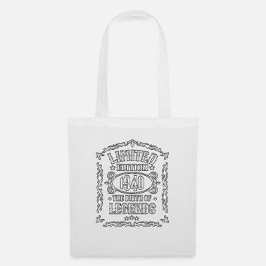80th Birthday Born in 1940 80th birthday, vintage 1940 gift - Tote Bag