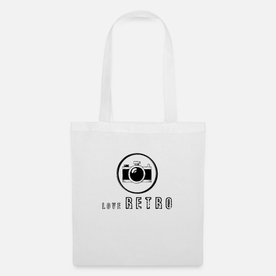Love Bags & Backpacks - Retro love - Tote Bag white