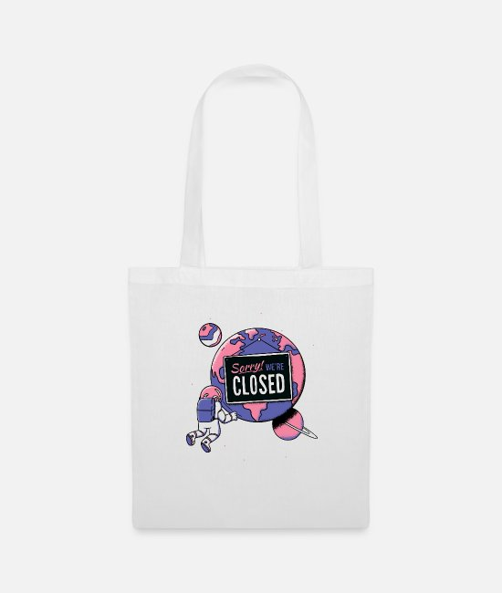 Spaceman Bags & Backpacks - Closed planet - Tote Bag white