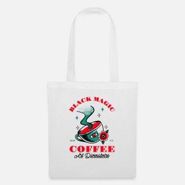 Matin Black Magic Coffee Art Divinatoire Café Cadeau etc - Sac en tissu
