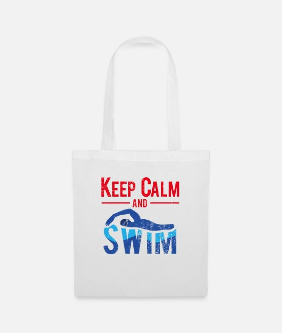 Outdoor Swimming Pool Bags & Backpacks - Keep Calm And Swim - swimming - Tote Bag white