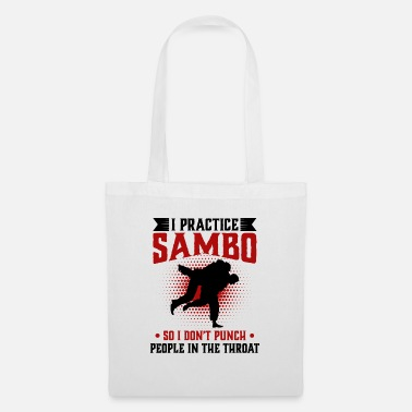 Aggressive I practice Sambo So I Don't Punch People In The - Tote Bag