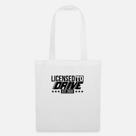 Driving School Bags & Backpacks - Driving test passed driving license 2020 gift - Tote Bag white
