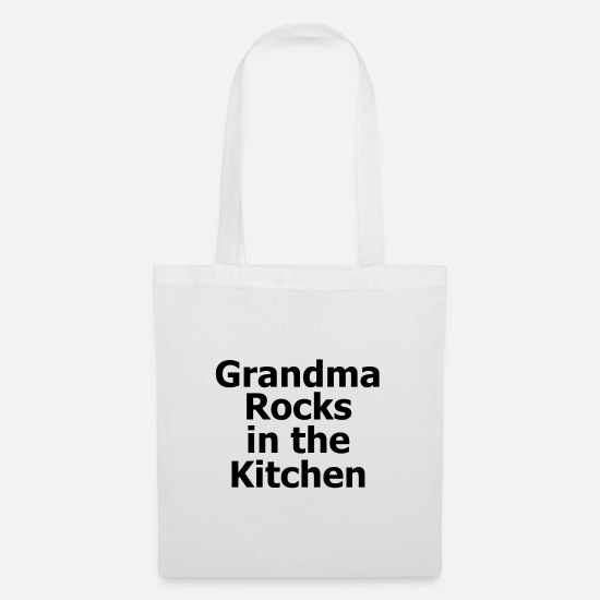 Gift Idea Bags & Backpacks - Grandmother rocks - Tote Bag white