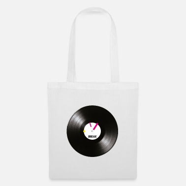 Raver Turntablism Scratch DJ Vinyl Record with markers. - Tote Bag