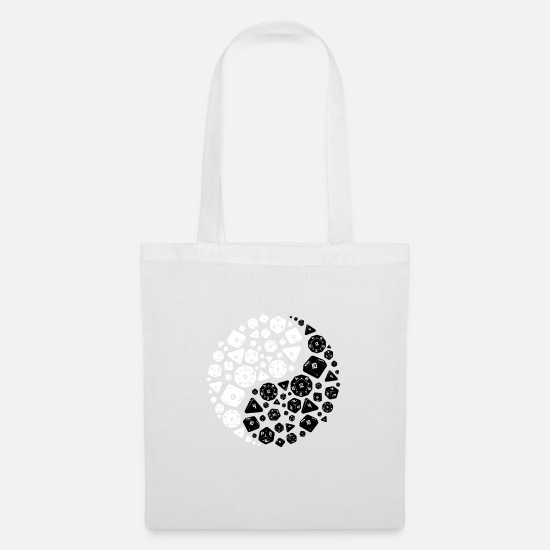 Yin Bags & Backpacks - Dice Yin Yang - Tote Bag white