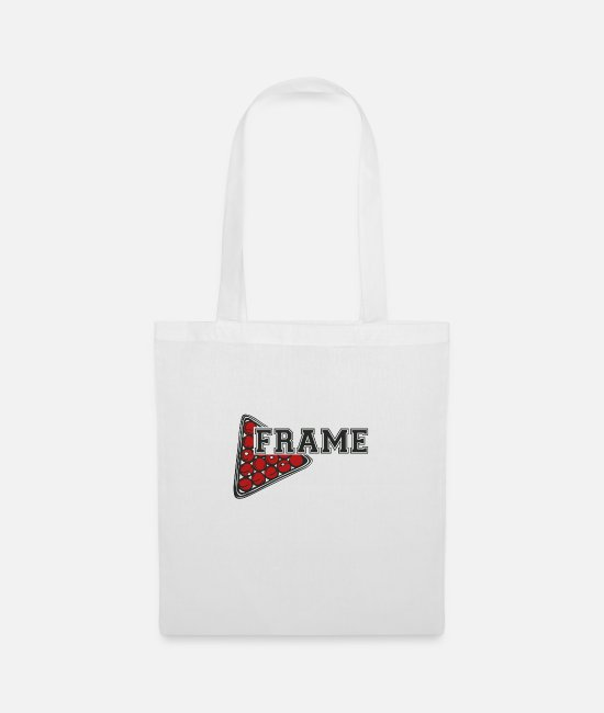 Cue Bags & Backpacks - Snooker frame - Tote Bag white