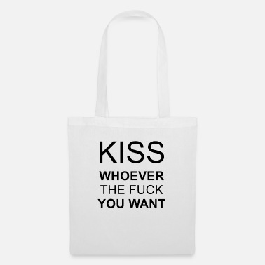Kiss kiss whoever you want - Stoffbeutel