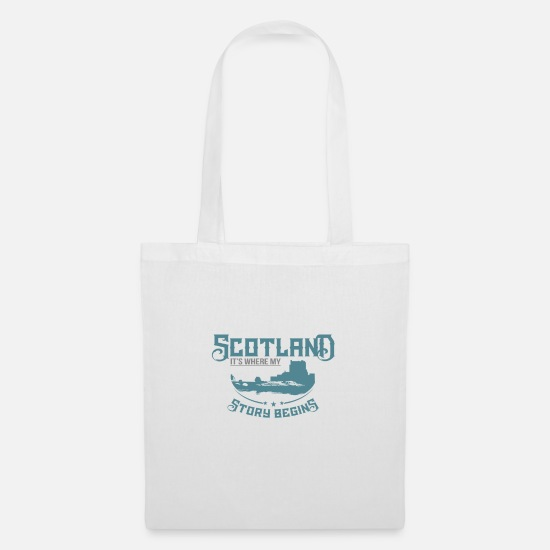 United Kingdom Bags & Backpacks - Scotland - Tote Bag white