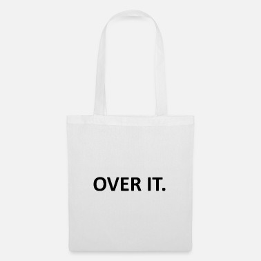 Over The Hill Over It Quote - Tote Bag