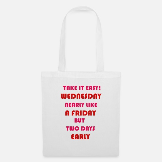 Wednesday Bags & Backpacks - WEDNESDAY - Tote Bag white