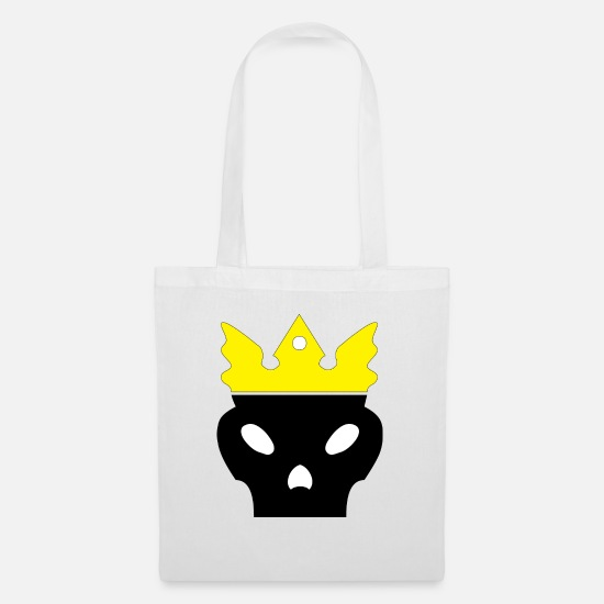 Death Bags & Backpacks - Skeleton King - Tote Bag white
