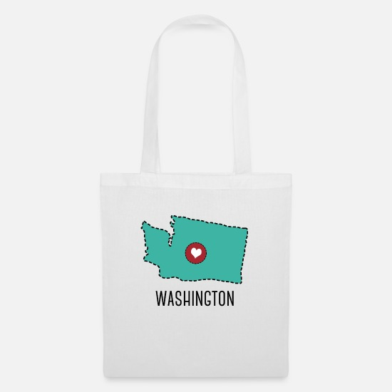 Heart Bags & Backpacks - Washington State Herz - Tote Bag white