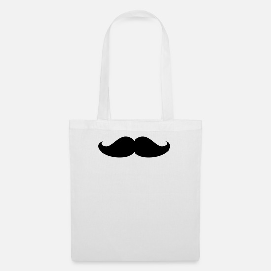 Funny Bags & Backpacks - moustache - Tote Bag white