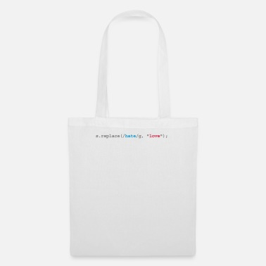 Quotes replace hate with love - Tote Bag