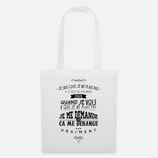 Citations Sacs et sacs à dos - Citations made in Belgique - Sac en tissu blanc