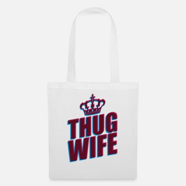 3d thug wife queen crown princess queen koenigin 3d logo - Tote Bag