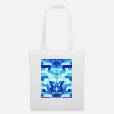 Blue Geometry Triangle Pattern - Handy Case - Tote Bag