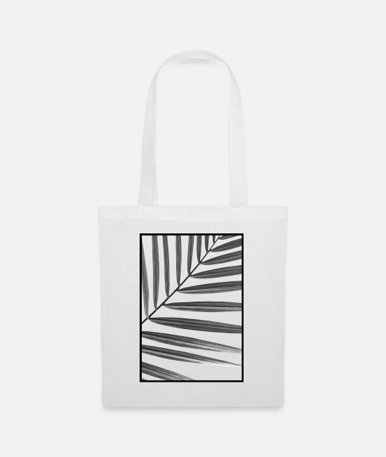 Minimalistic Bags & Backpacks - Palm III (B&W) - Tote Bag white