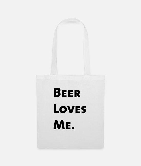 St Patricks Day Bags & Backpacks - Beer Loves Me. - Tote Bag white