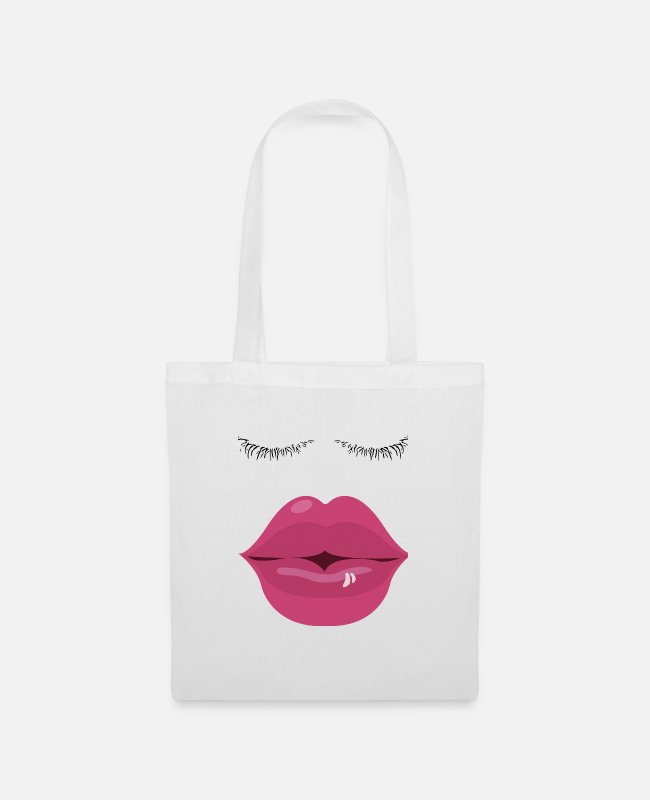 Pregnant Bags & Backpacks - kiss Me - Tote Bag white