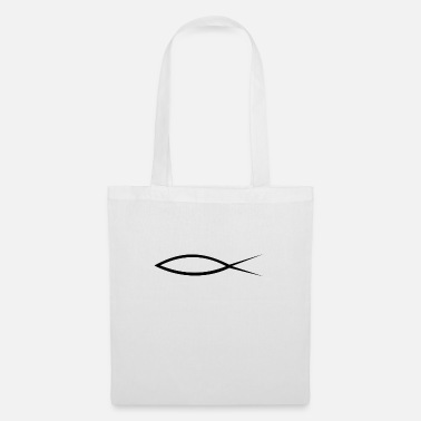 Christian Christianity fish with caption (Itchys) - Tote Bag