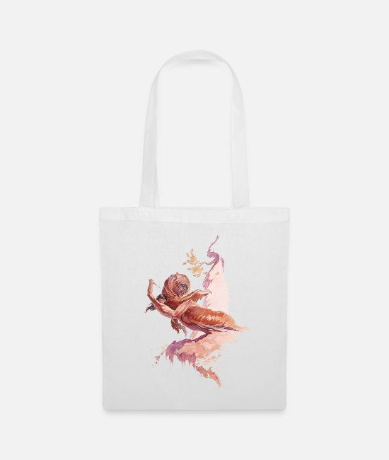 Nature Bags & Backpacks - Tarzan fights with a bear - Tote Bag white