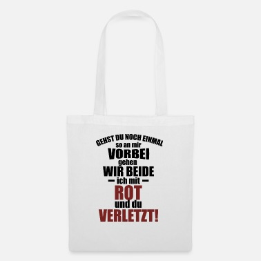 Injured Soccer Player RED and Injured - Tote Bag