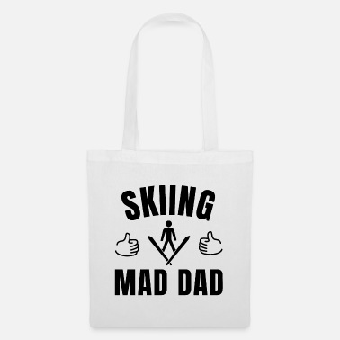 Ski Instructor Skiing mad dad - Tote Bag