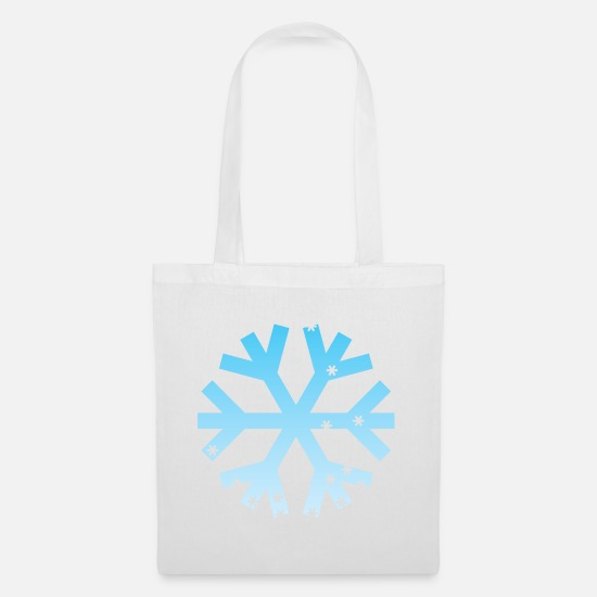 Symbol  Bags & Backpacks - Snowflake ombre - Tote Bag white