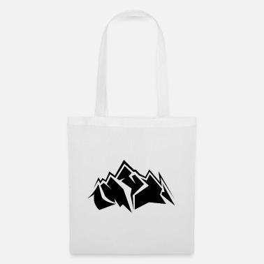 Mountains mountain mountains mountain mountains symbol - Tote Bag