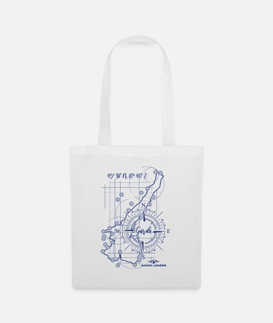Sail Boat Bags & Backpacks - Garda Lakers compass map - Tote Bag white