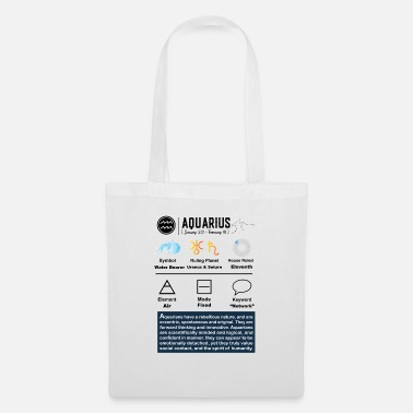 Saturn Aquarius Characteristics - Tote Bag