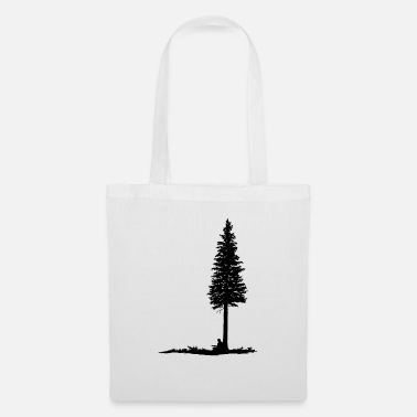 Guitar player under tree (black silhouette) - Tote Bag